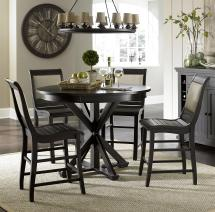 5 Piece Round Counter Height Dining Table Set