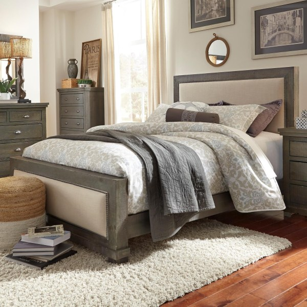 Queen Upholstered Bed Willow