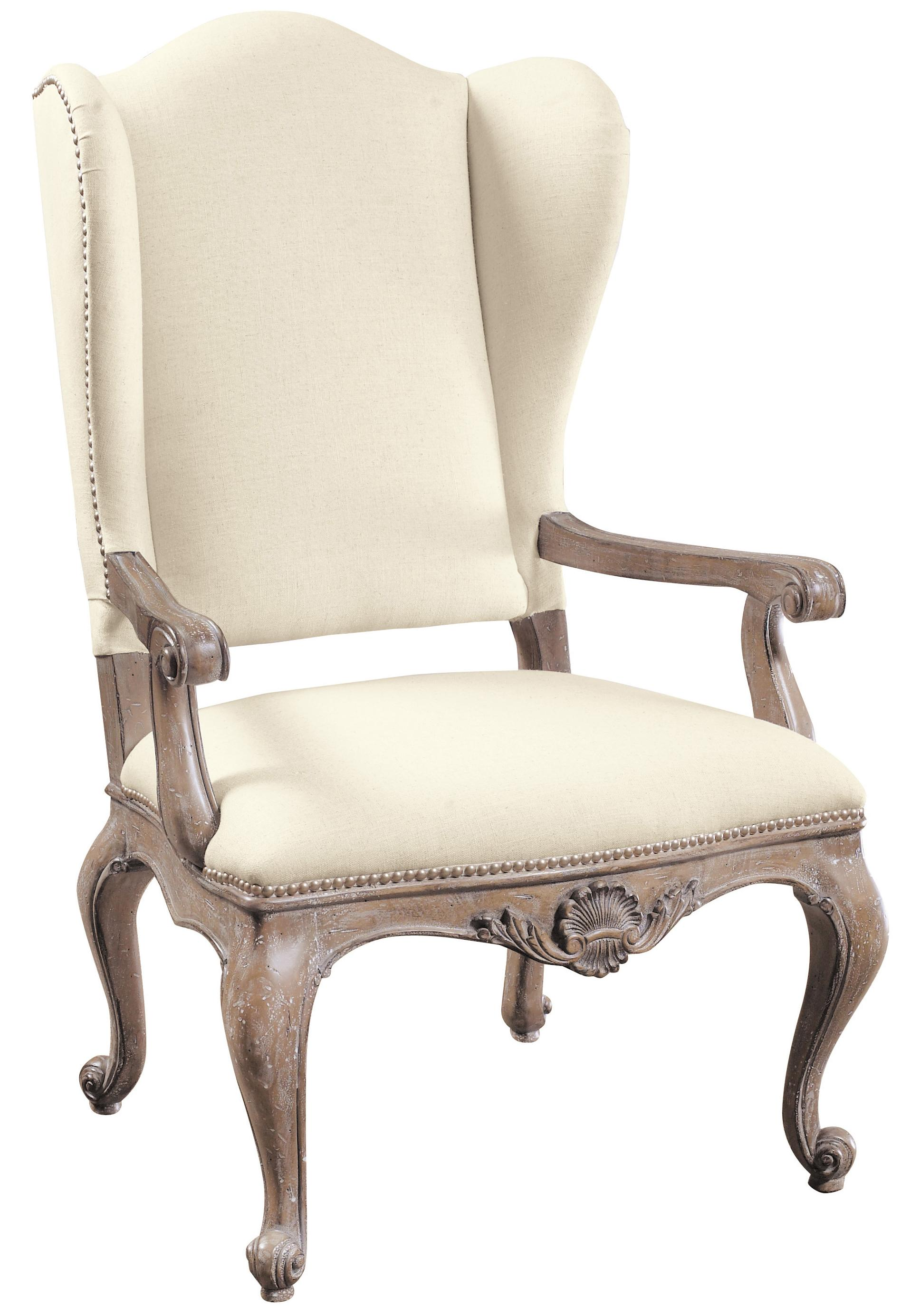 cream upholstered dining chairs hammaka nami chair instructions pulaski furniture accentrics home danae arm with