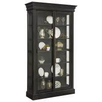 Pulaski Furniture Curios Sliding Door Curio in Charcoal ...