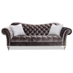 Friends Sofa Replica Small Chaise Rachlin Classics Vanna Traditional With Deep Tufted