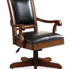 Wooden Executive Office Chairs Small Table With 2 For Bedroom Riverside Furniture Bristol Court 24538 Caster Equipped