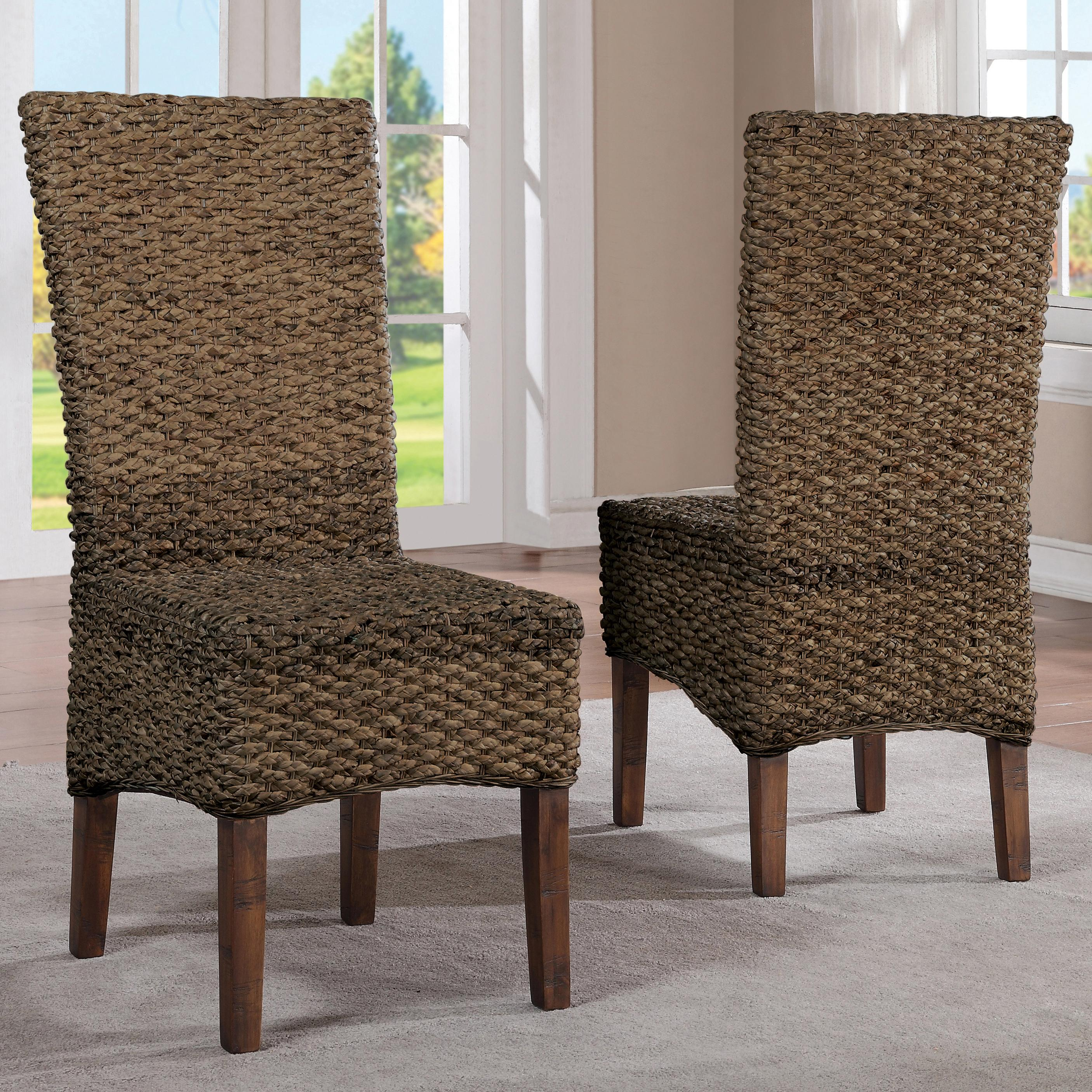 Woven Chair Mix N Match Chairs Woven Leaf Side Chair By Riverside