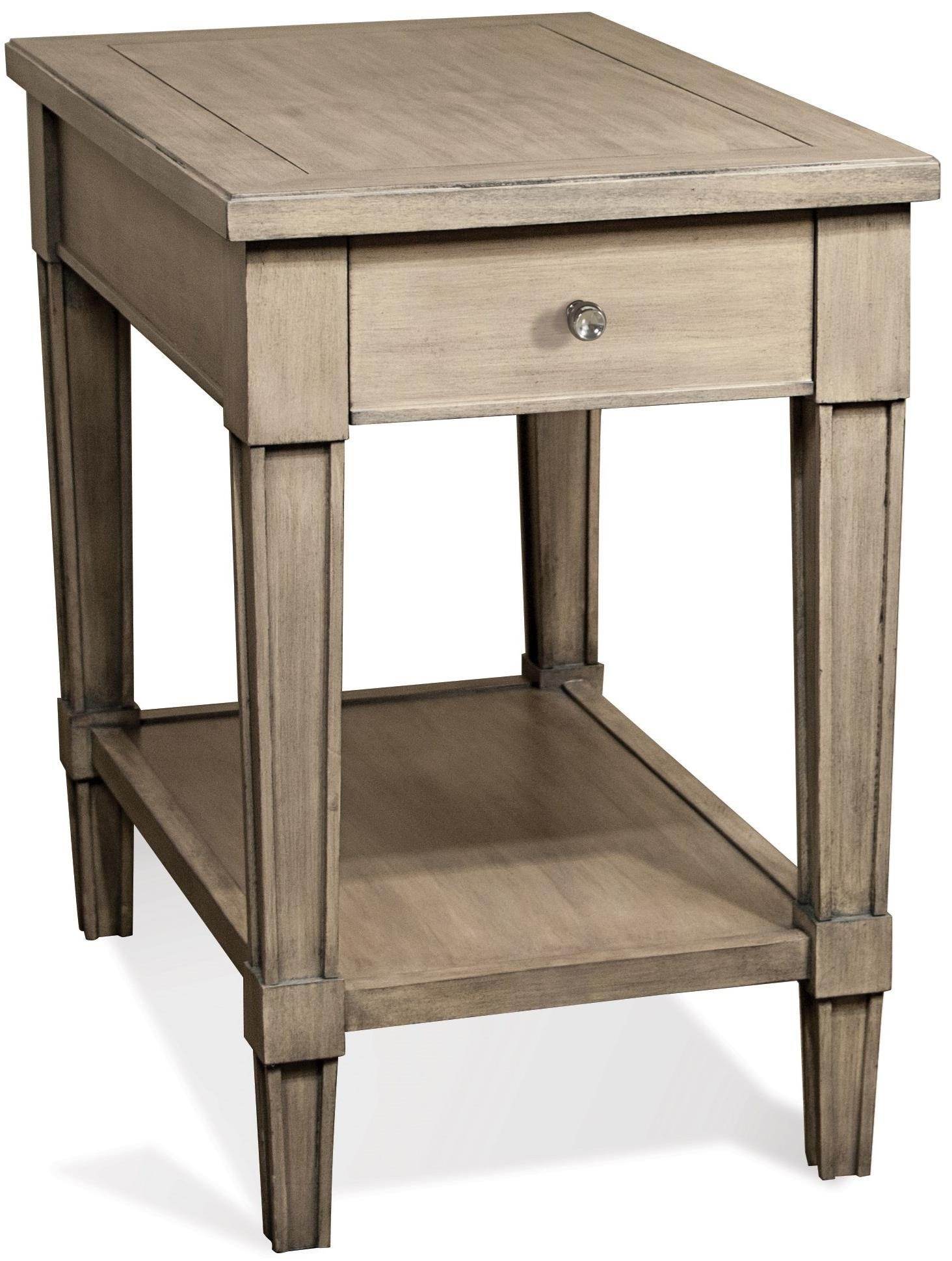 chair side end table shabby chic desk riverside furniture parkdale 1 drawer rectangle chairside