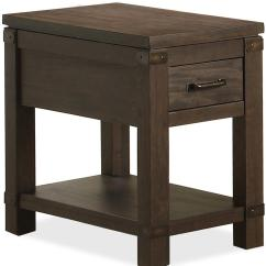 Chair Side End Table Velvet High Back Riverside Furniture Promenade 84512 Chairside With 1
