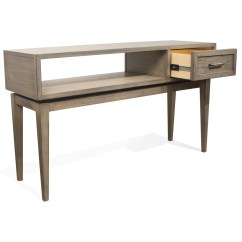 Vogue Chrome Sofa Table How To Repair A Sagging Leather Seat Riverside Furniture 46115 1 Drawer Console