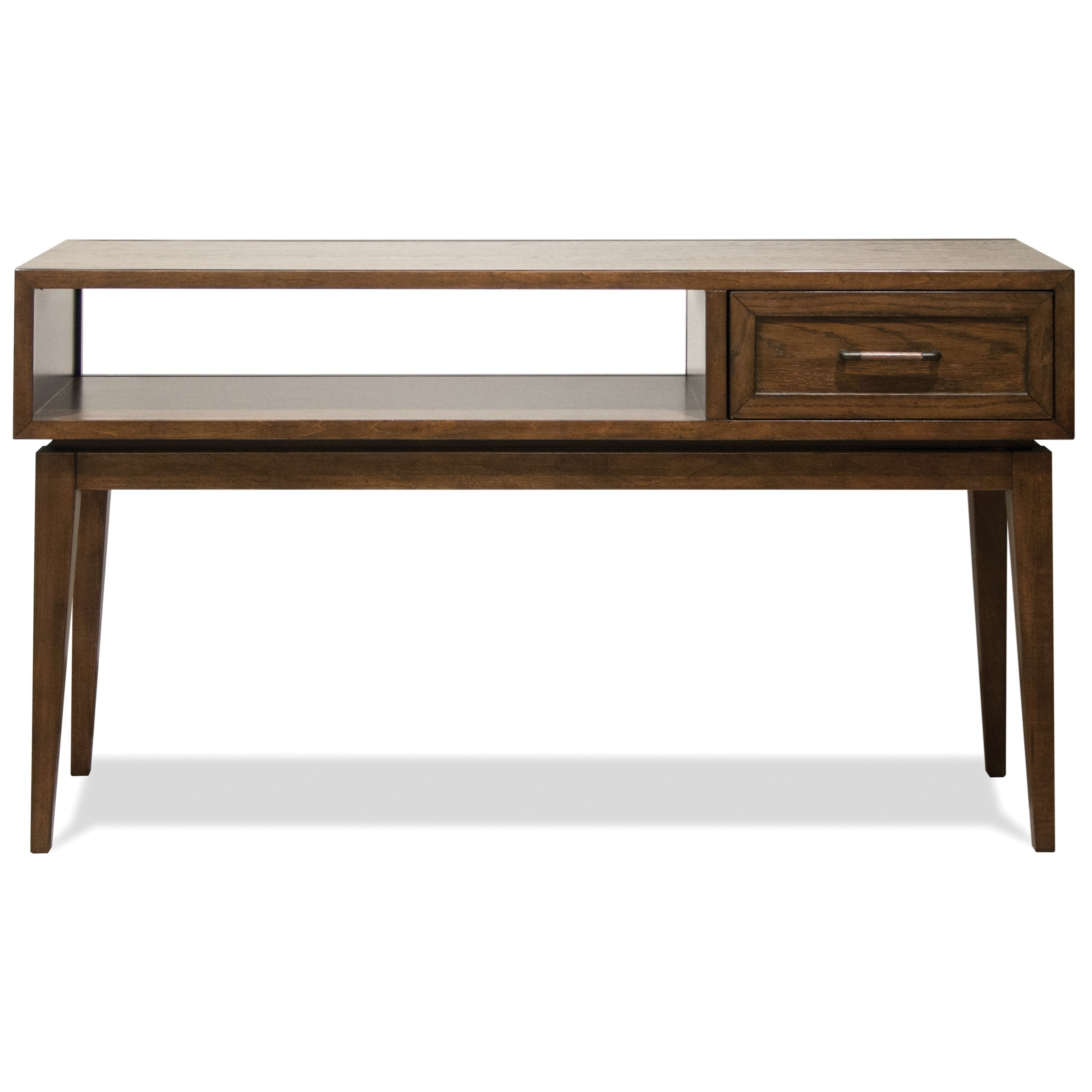 vogue chrome sofa table sleeper in costco riverside furniture 1 drawer console with mid