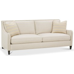 Contemporary Sofa With Wood Trim Folding Floor Chair Rb By Rowe Berlin Stationary Nail