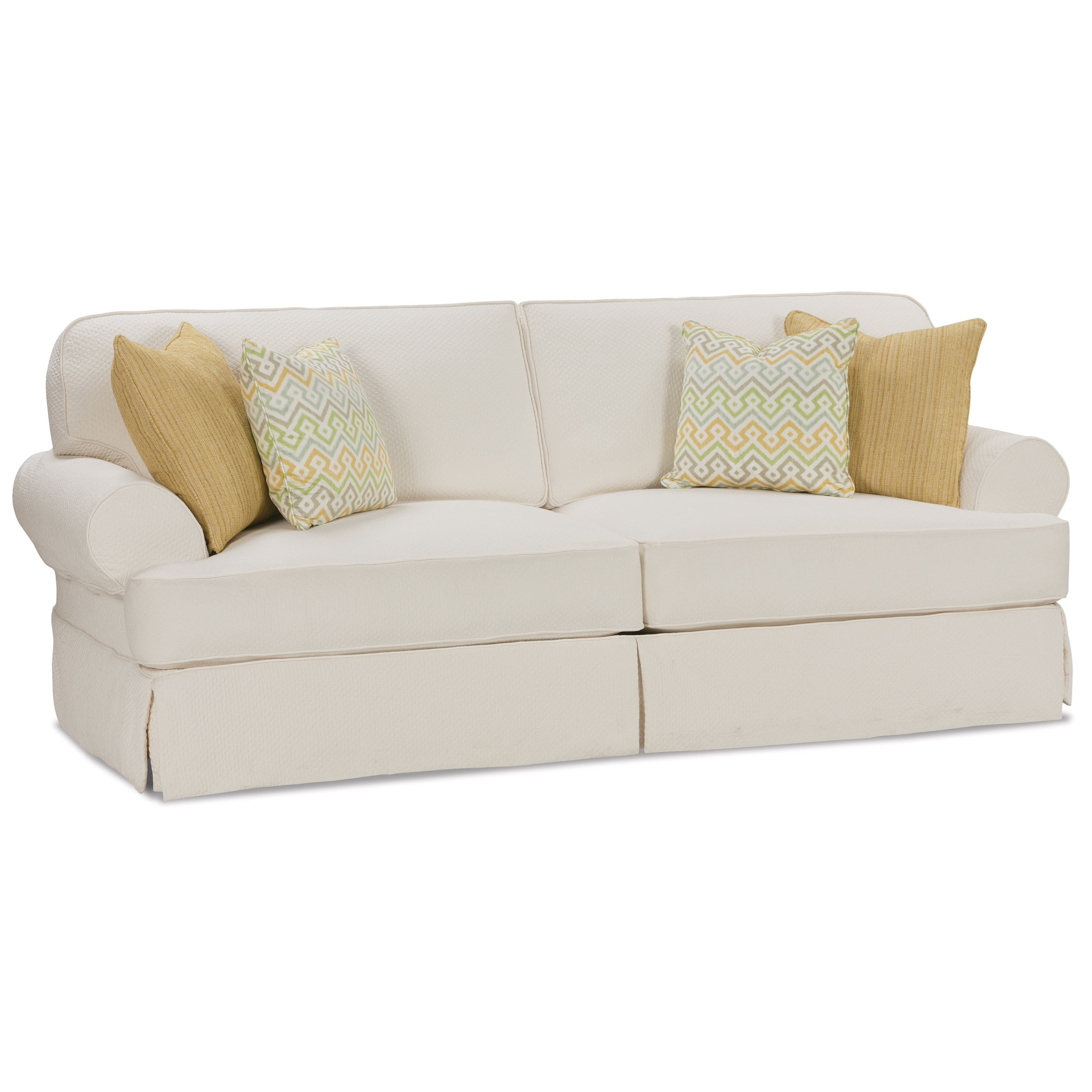 2 seater recliner sofa covers mart lubbock hours rowe addison traditional seat with slipcover and