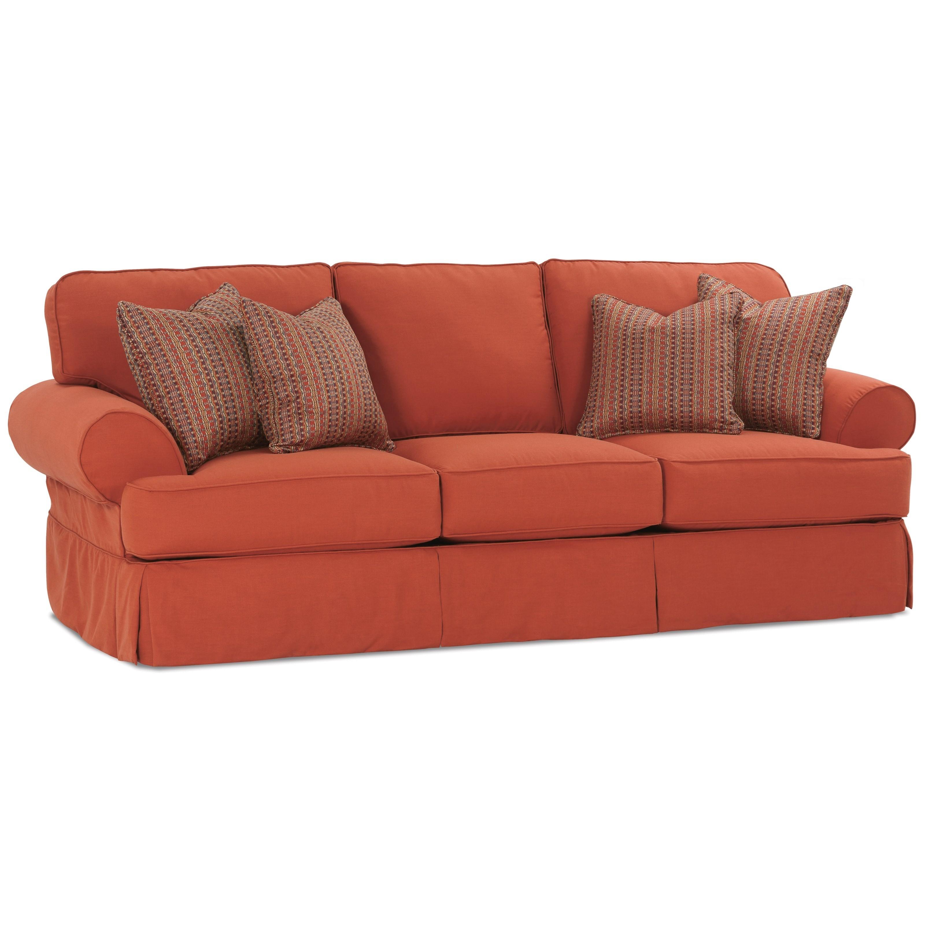 rowe slipcover sofa futon sleeper with storage addison traditional 3 seat and
