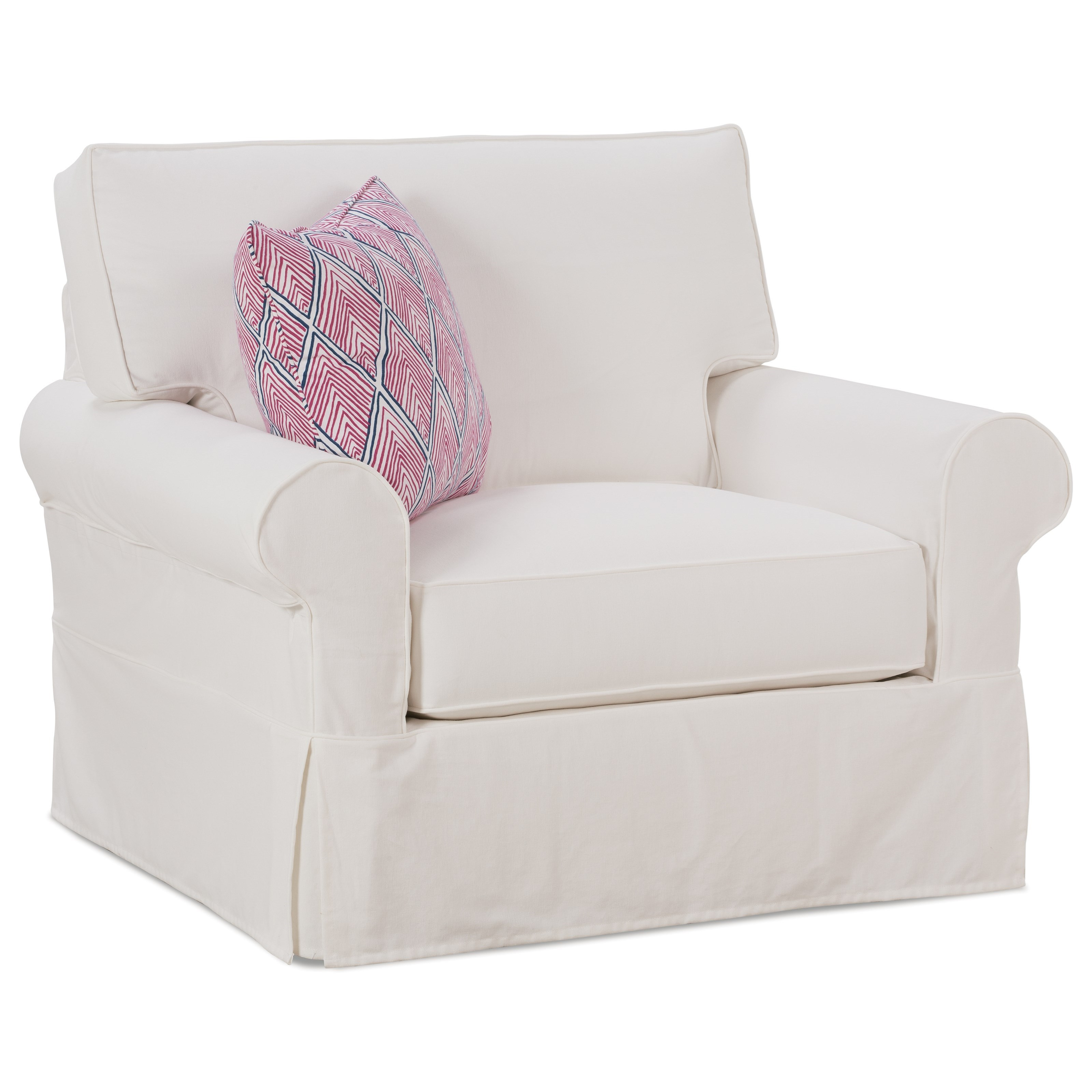 slip cover chair and a half rental cincinnati rowe easton casual with slipcover