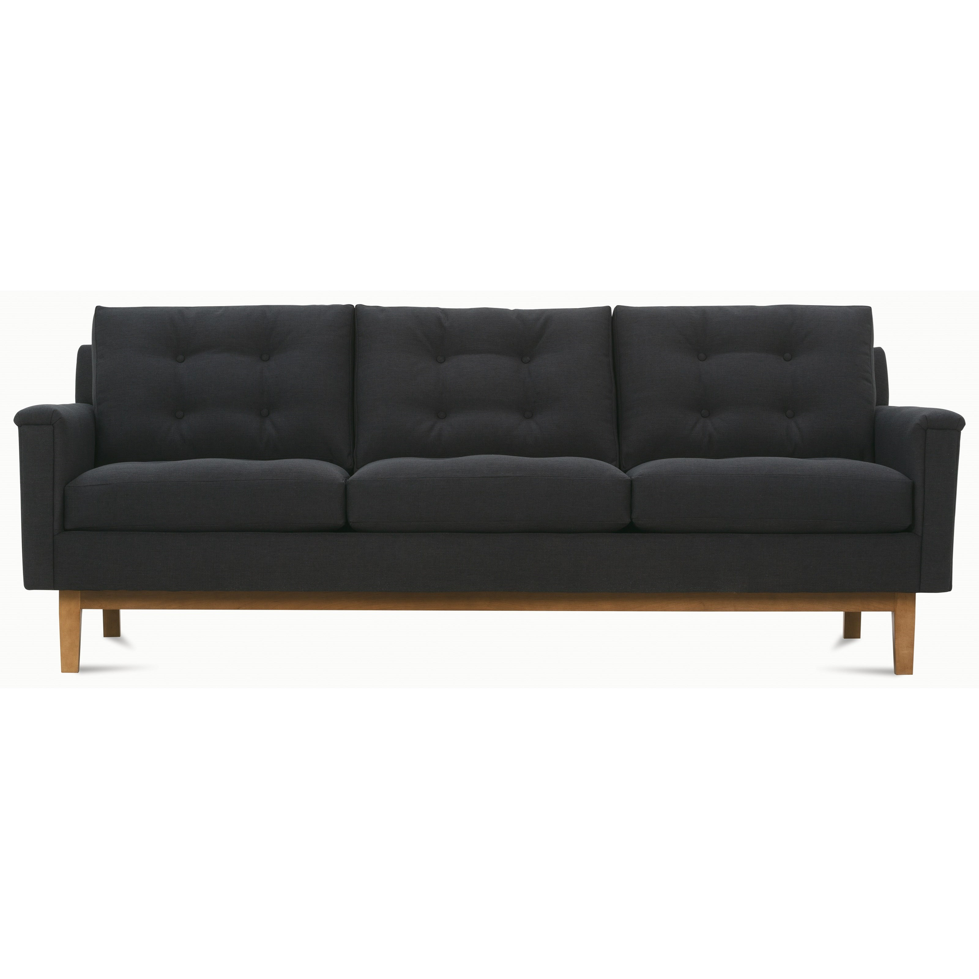 modern pillows for sofas gray pit sectional sofa rowe ethan mid century with tufted back