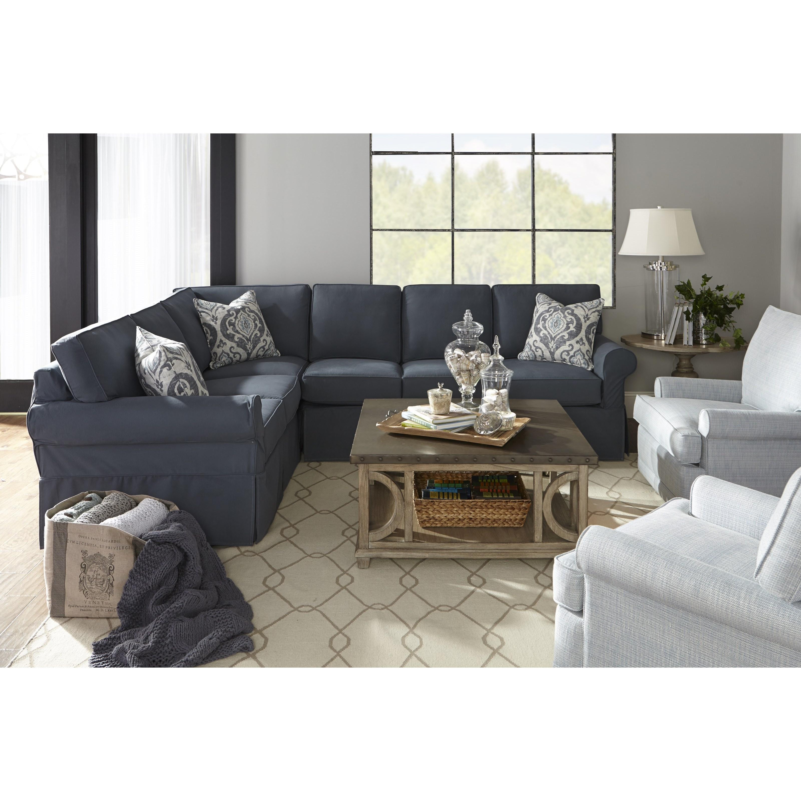 rowe masquerade sectional sofa black and white striped uk casual style ahfa