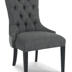 Upholstered Chair With Nailhead Trim Brown Leather Wingback Sam Moore Walden 3917 Traditional Button