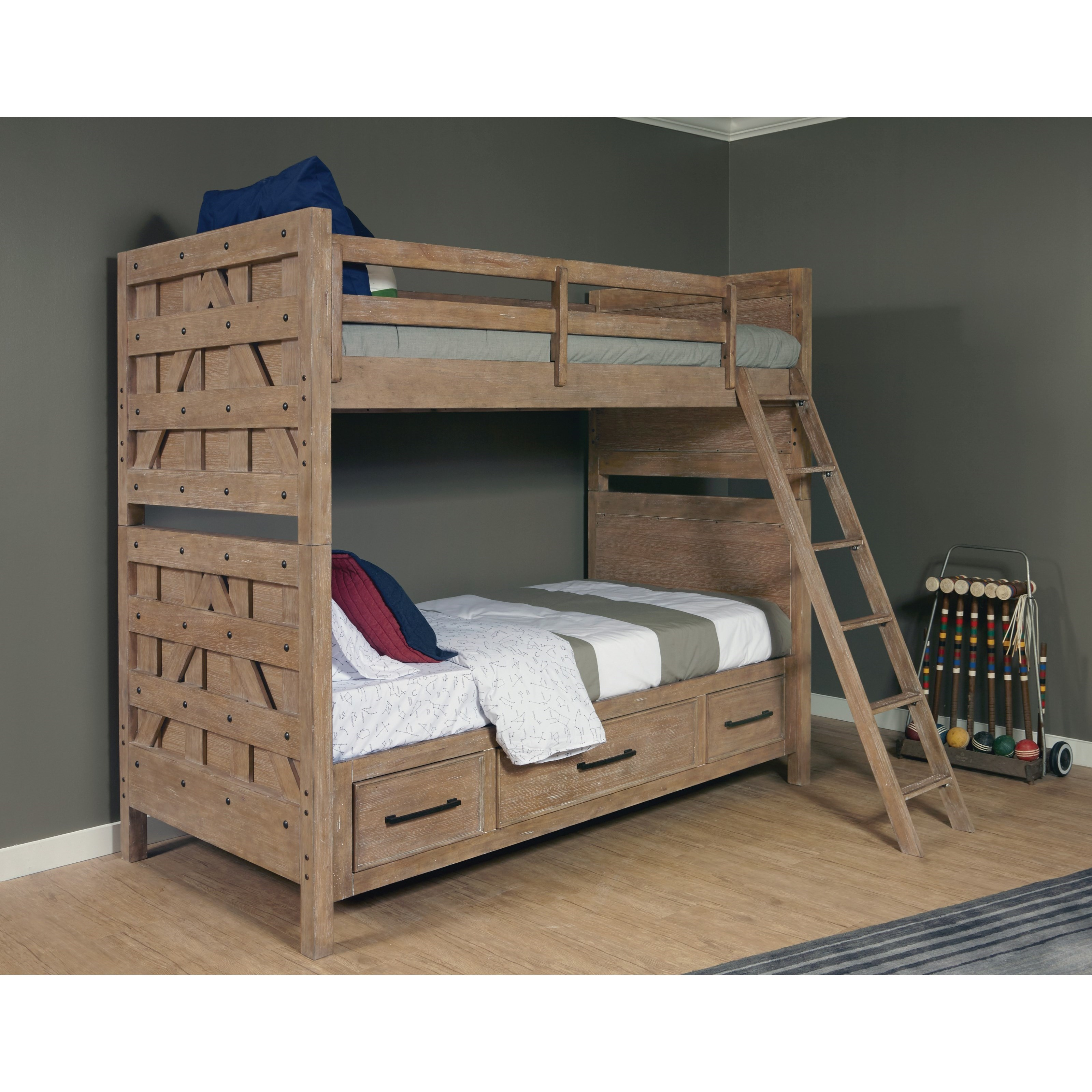 Samuel Lawrence Austin Bunk Bed with Trundle Storage Unit