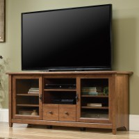 Sauder Edge Water 418978 2 Door Entertainment Credenza ...