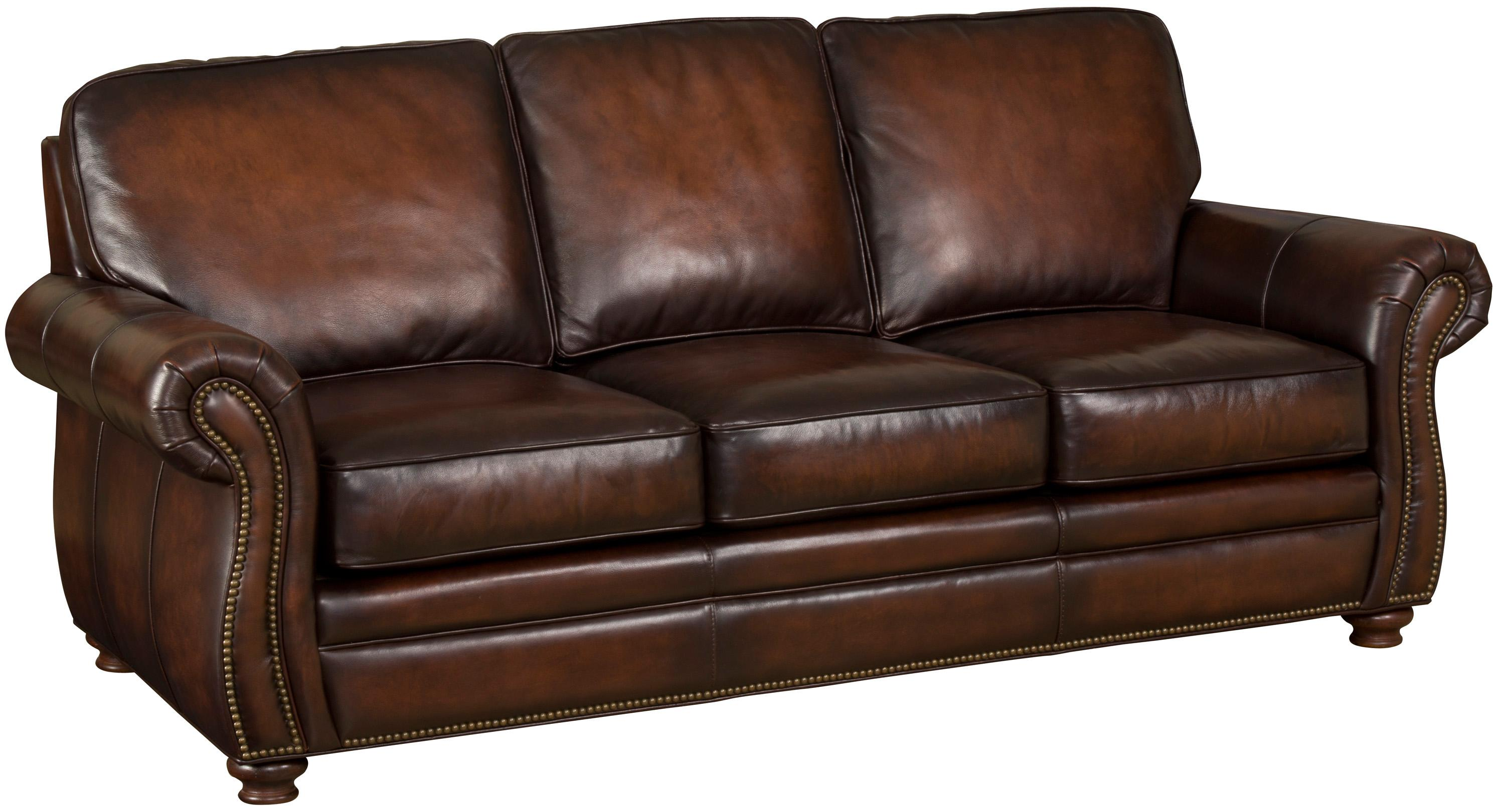 Hooker Leather Chair Hooker Furniture Ss186 Brown Leather Sofa With Exposed