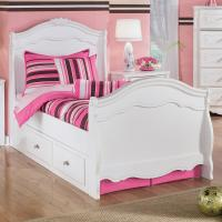 Signature Design by Ashley Exquisite Twin Sleigh Bed with ...