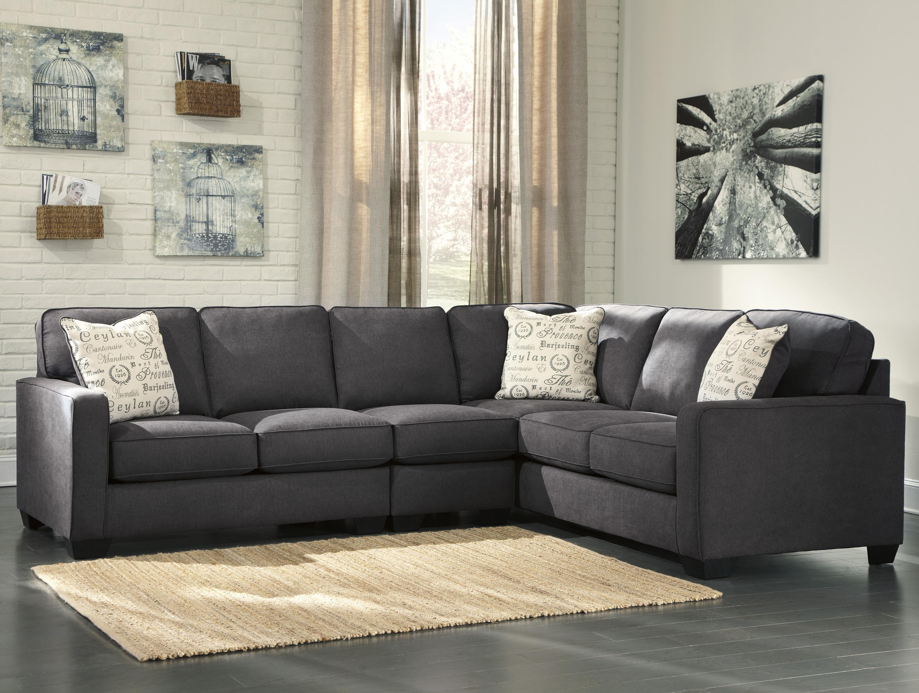 jamestown 2 piece sofa and loveseat group in gray sleeper sectionals small spaces signature design by ashley alenya charcoal 3