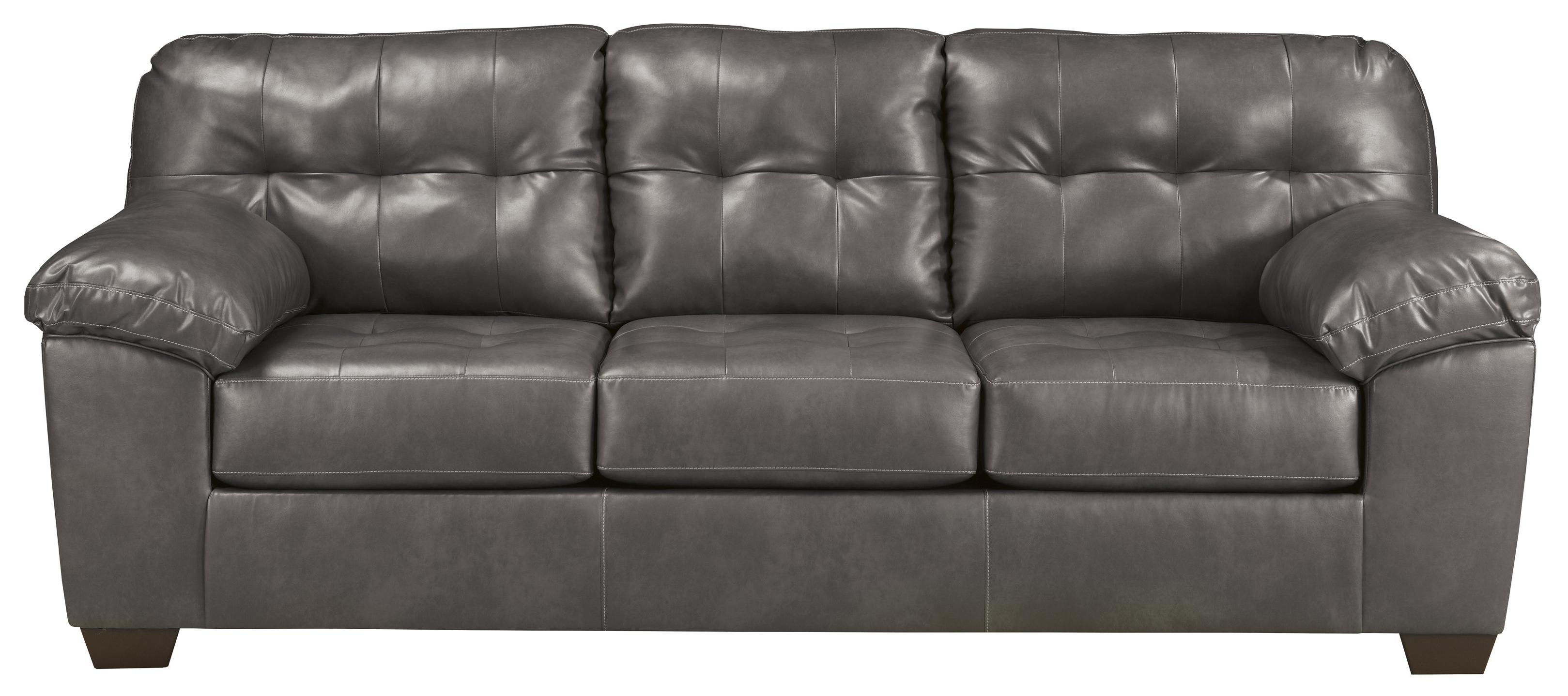 grey leather queen sleeper sofa chesterfield reduced signature design by ashley alliston durablend gray