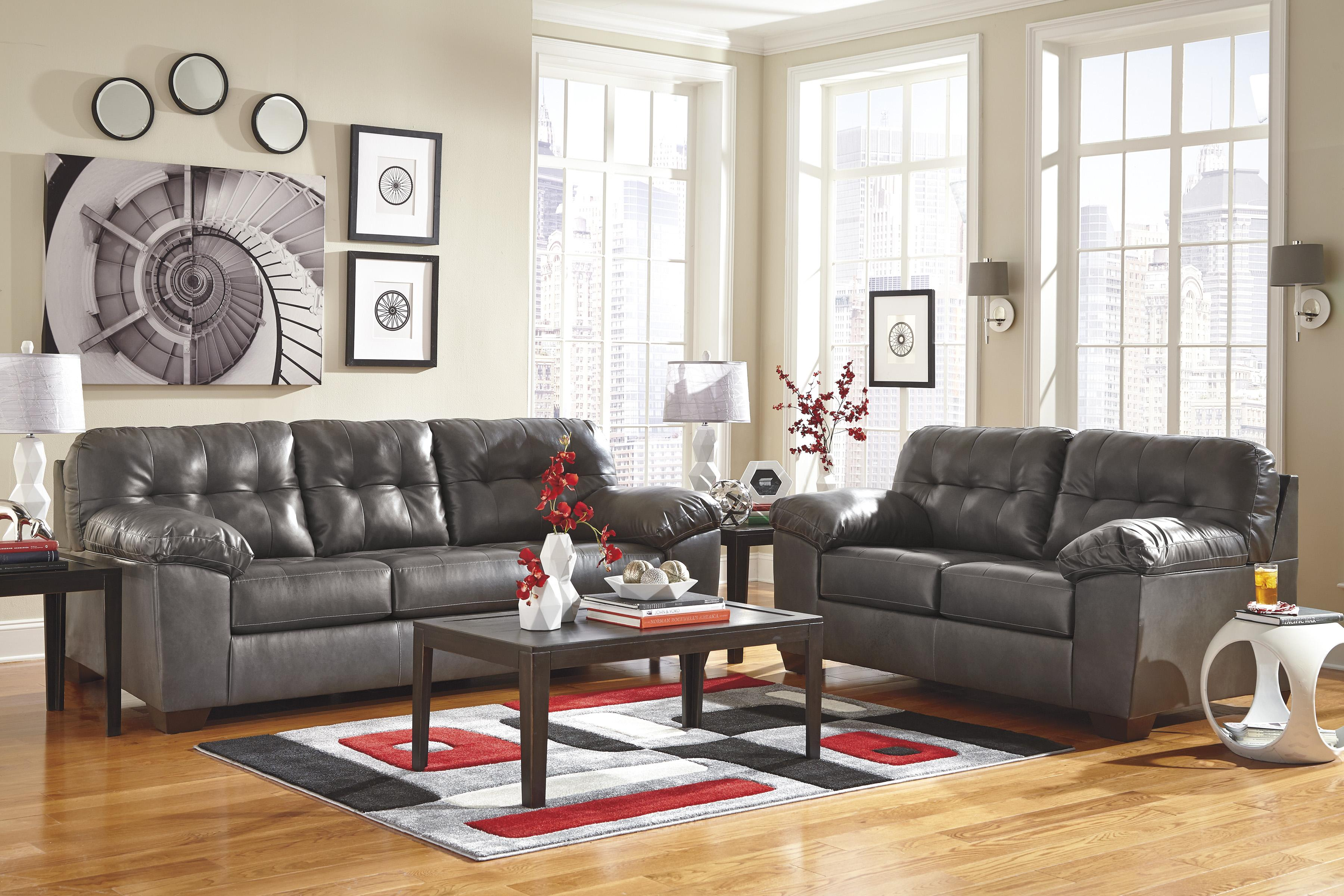ashley furniture durablend sleeper sofa cheap stretch covers uk signature design alliston gray 2010239