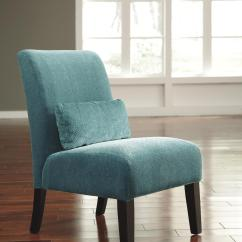 Accent Chair Teal Bumbo High Signature Design By Ashley Annora 6160460