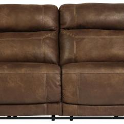 Motorized Sectional Sofa Circa Signature Design By Ashley Austere Brown 2 Seat