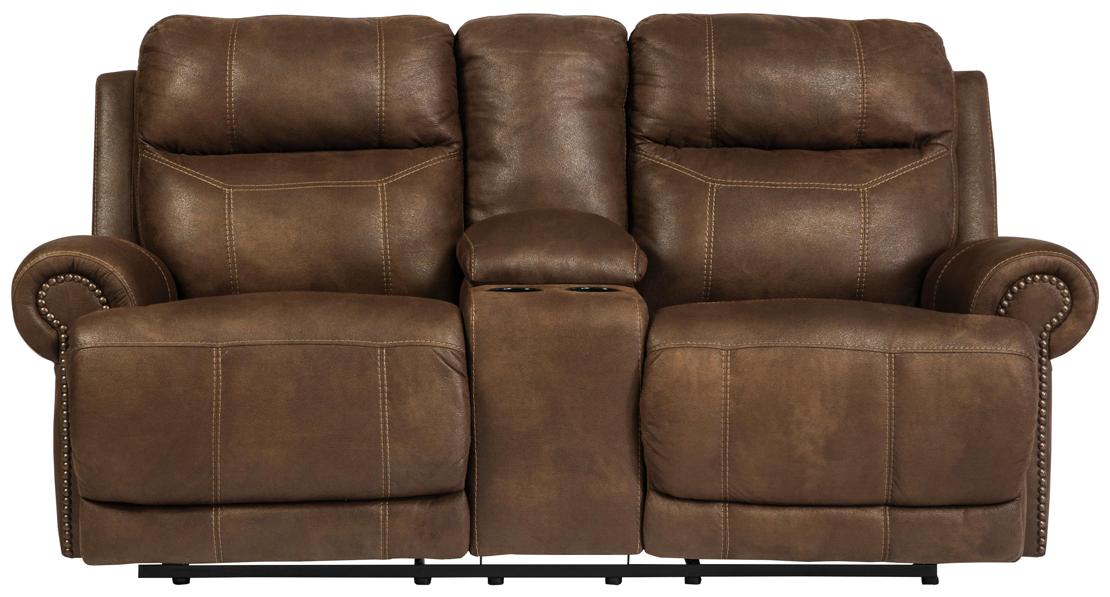 double recliner chairs ergonomic rocking chair signature design by ashley austere brown