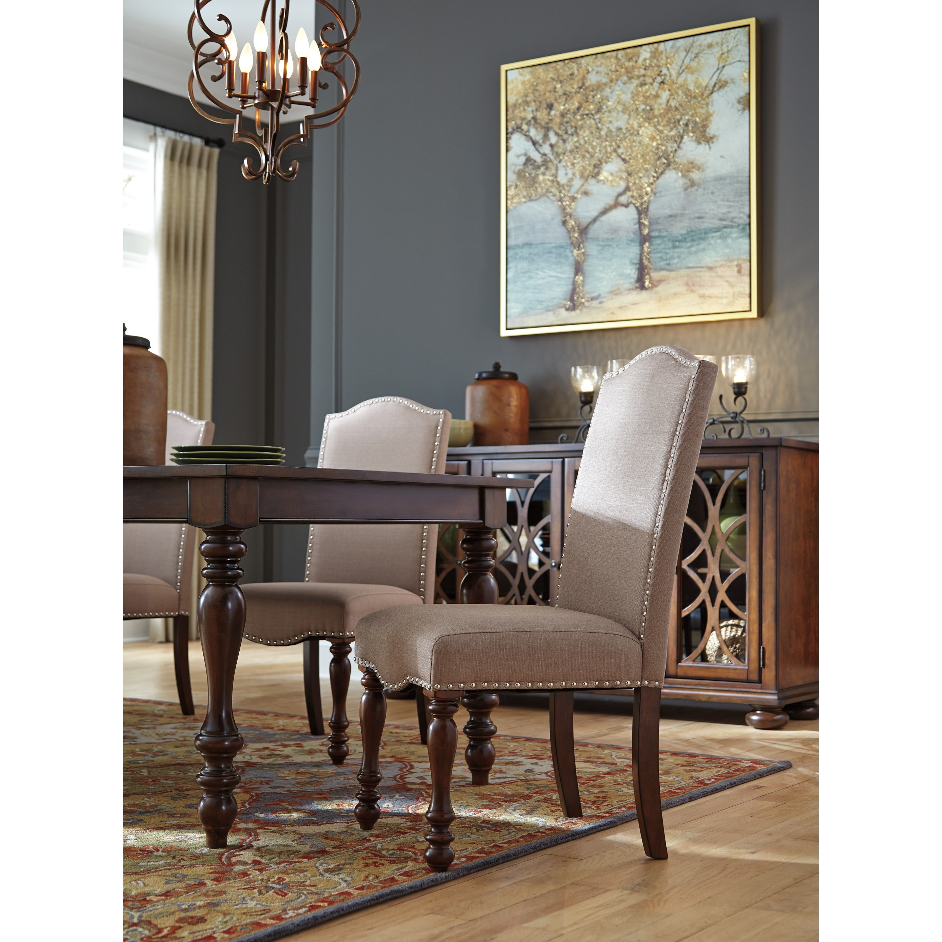 Ashley Dining Room Chairs Signature Design By Ashley Baxenburg Traditional Dining