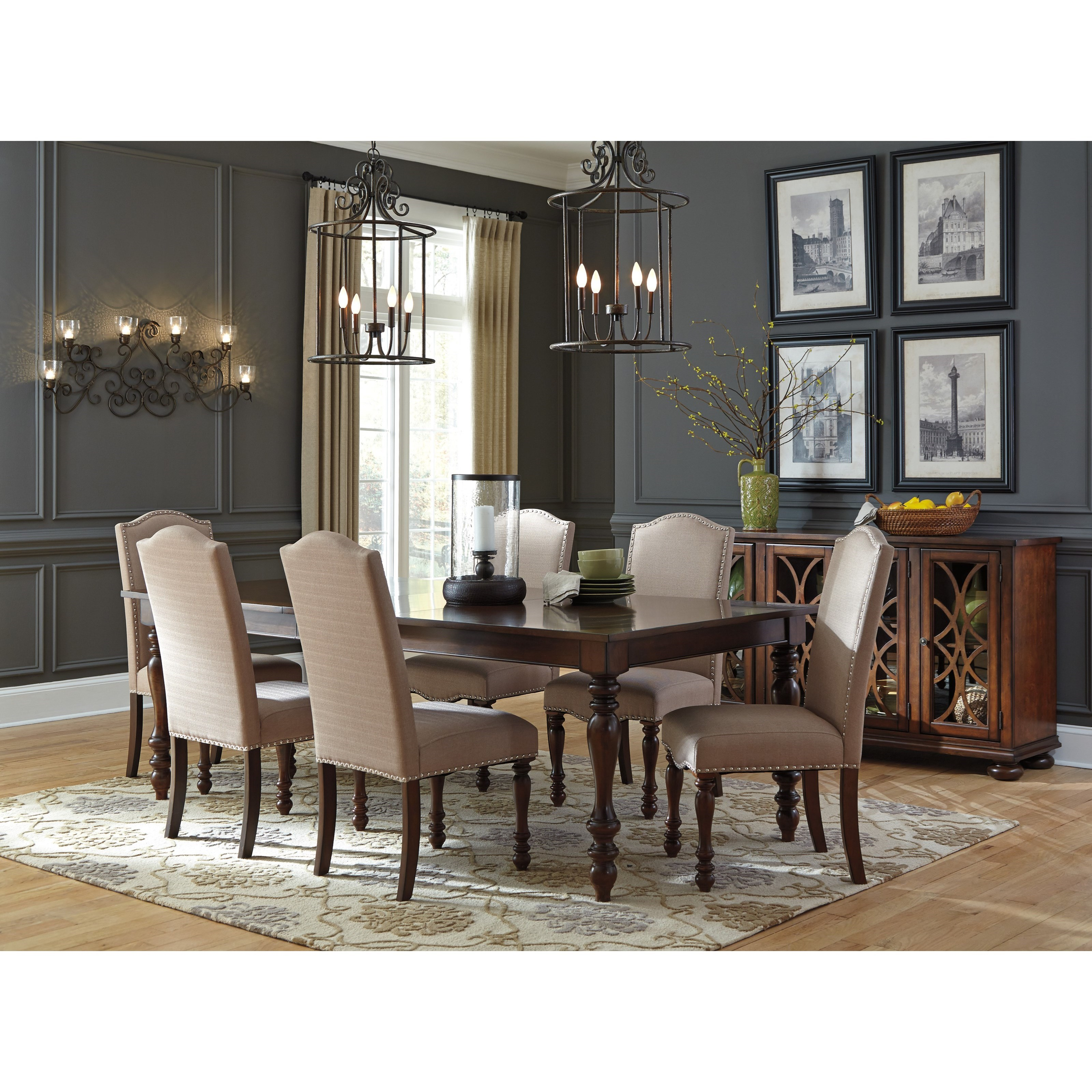 Ashley Dining Room Chairs Signature Design By Ashley Baxenburg 7 Piece Dining Room