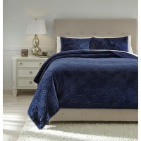 Ashley (Signature Design) Bedding Sets Queen Linette Blue