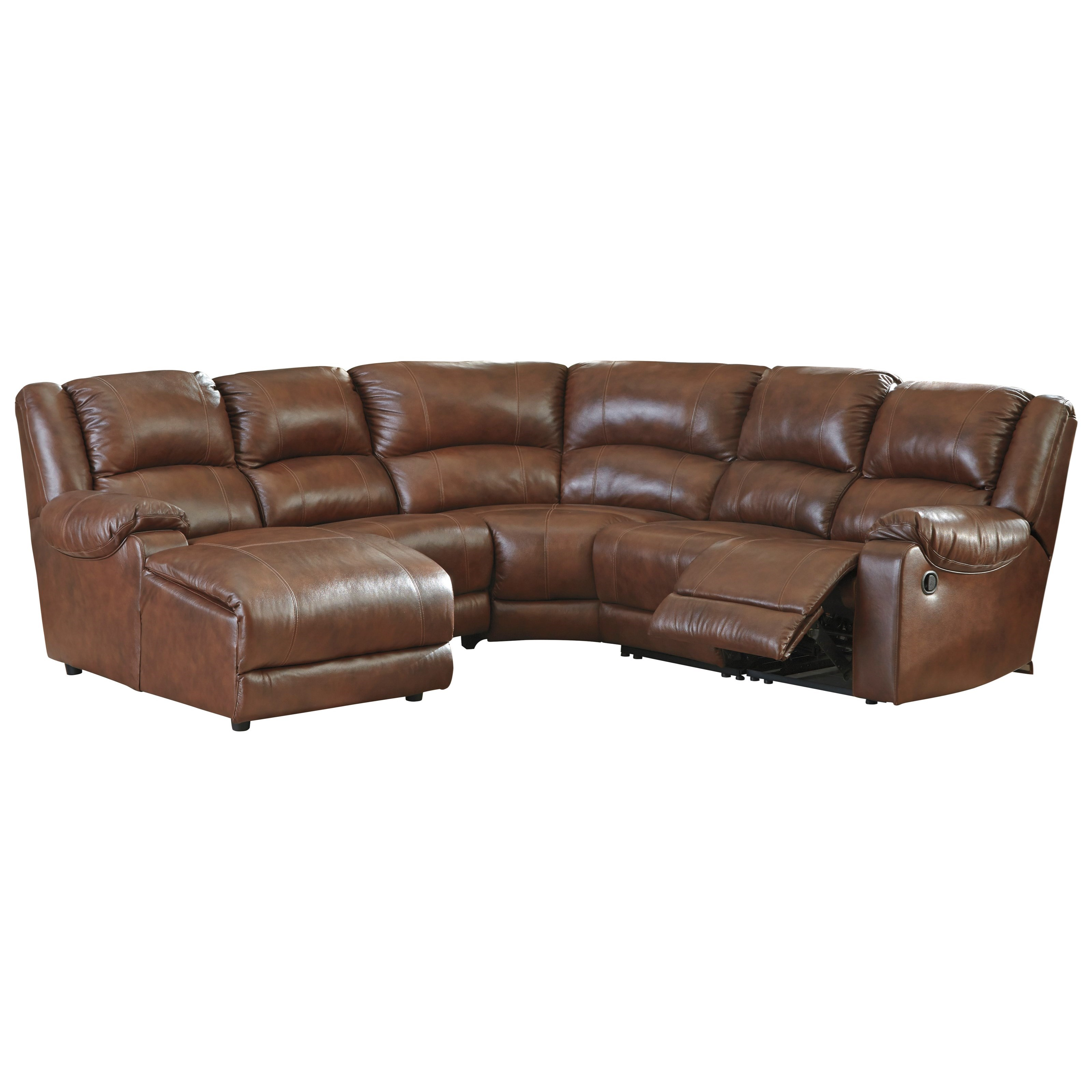 leather sofa with chaise and recliner very large corner sofas signature design by ashley billwedge match