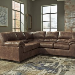 Faux Leather Sectional Sofa Ashley Sandhill Outdoor Set Replacement Cushions Signature Design By Bladen 2 Piece