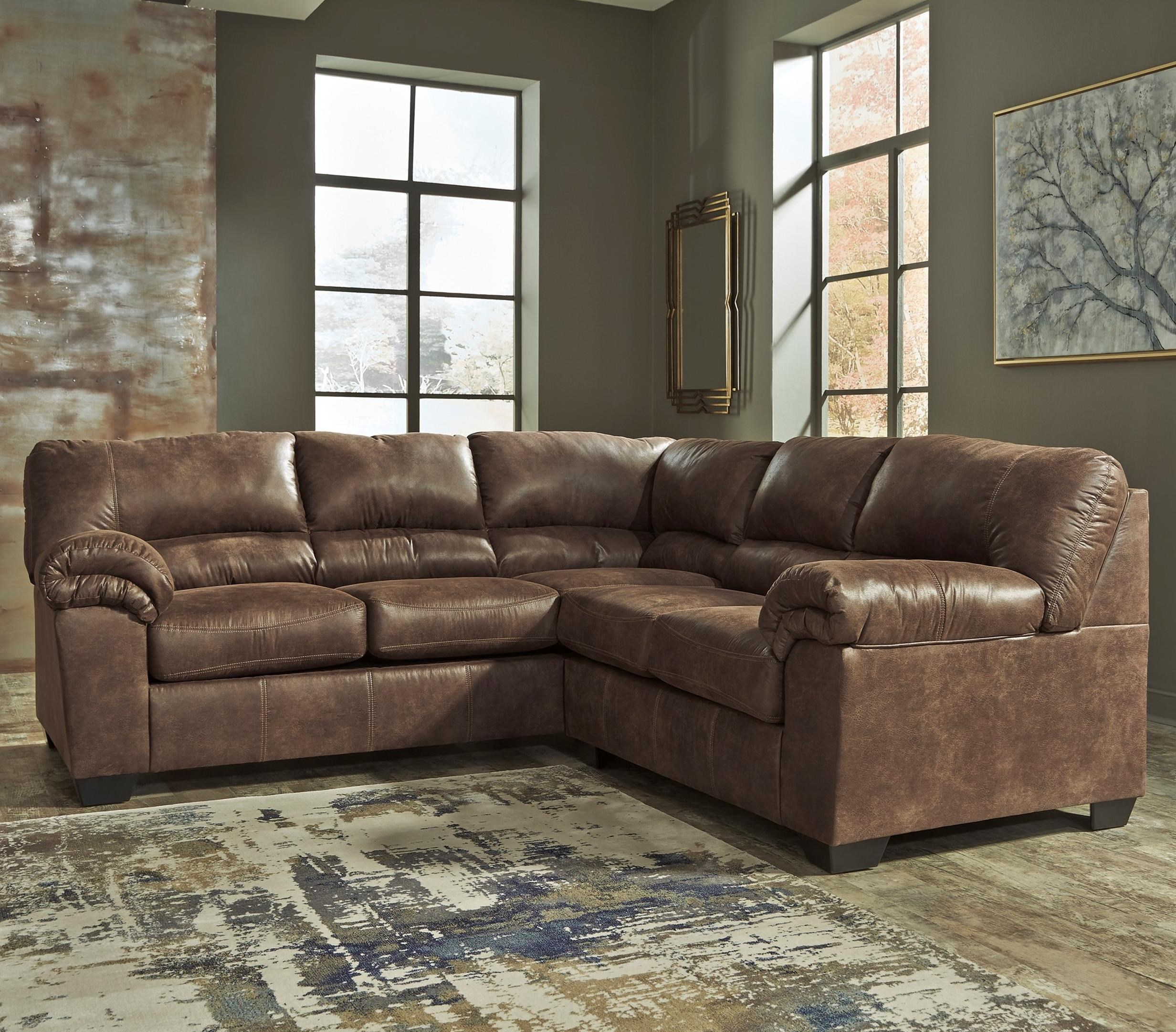 faux leather sectional sofa ashley cheap nightclub sofas signature design bladen two piece
