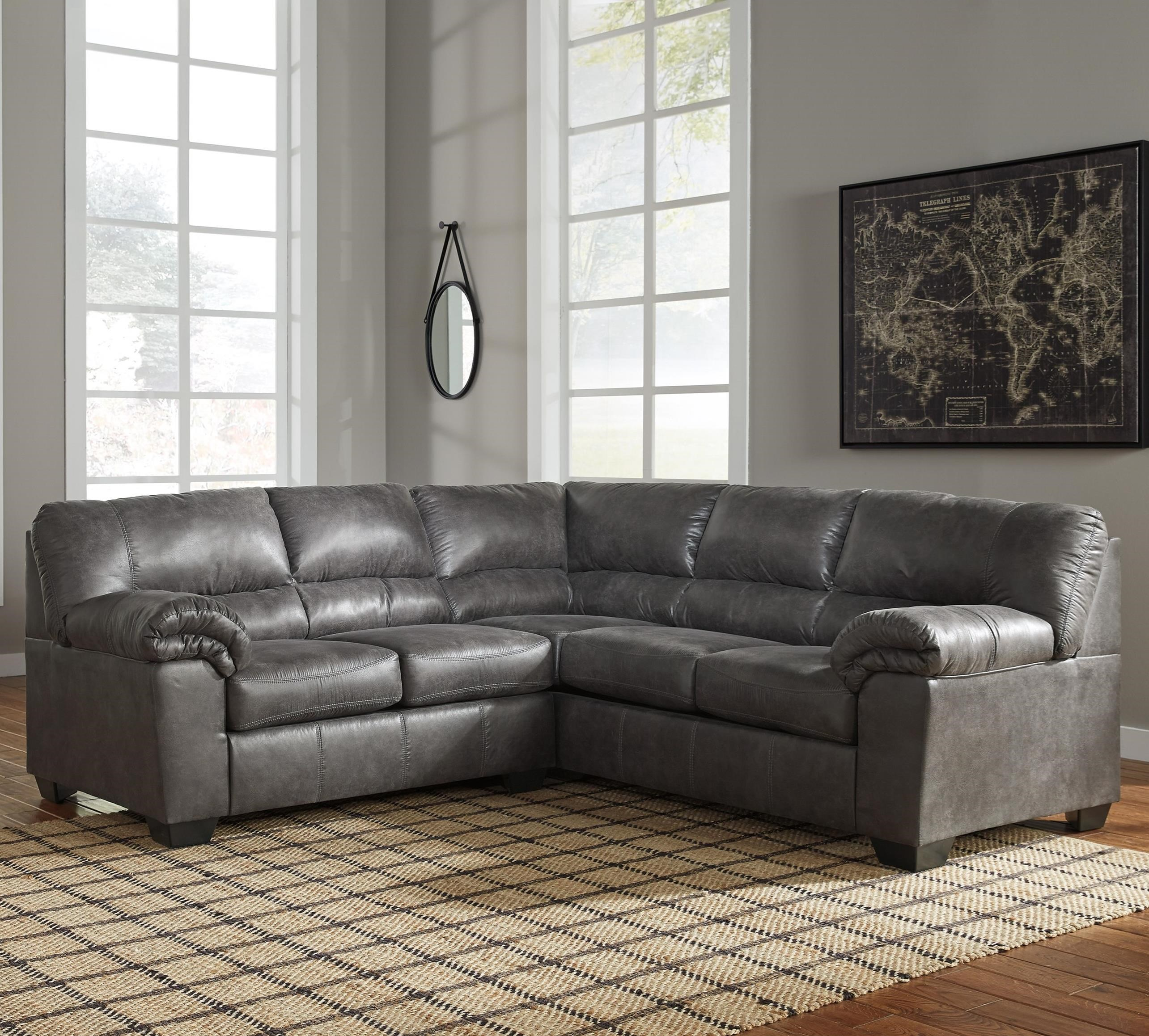 faux leather sectional sofa ashley chez long bed signature design by bladen 2 piece