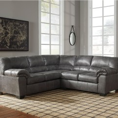 Faux Leather Sectional Sofa Ashley Crate And Barrel Singapore Bed Signature Design Bladen Two Piece