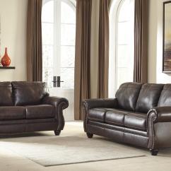 Nailhead Trim Sofa Ashley Nova Red And Black Leather Signature Design By Bristan 8220238 Traditional