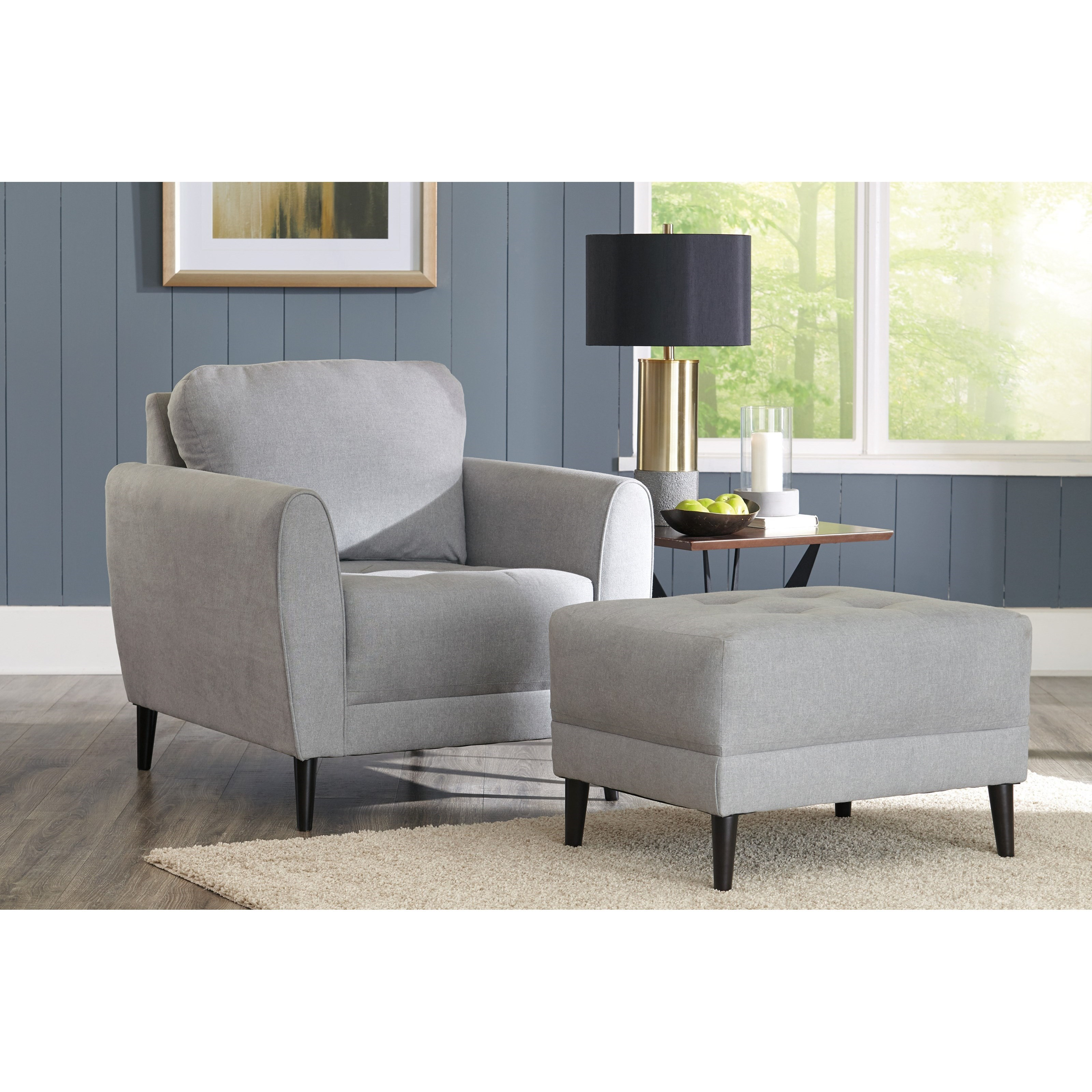 ashley chair and ottoman luxury folding chairs signature design by cardello contemporary