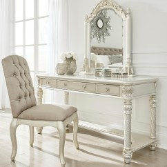 Vanity With Chair And Mirror Chairs For The Bedroom Ashley Signature Design Cassimore Traditional