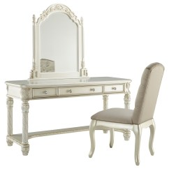 Vanity With Chair And Mirror Recliner Chairs Argos Signature Design By Ashley Cassimore Traditional