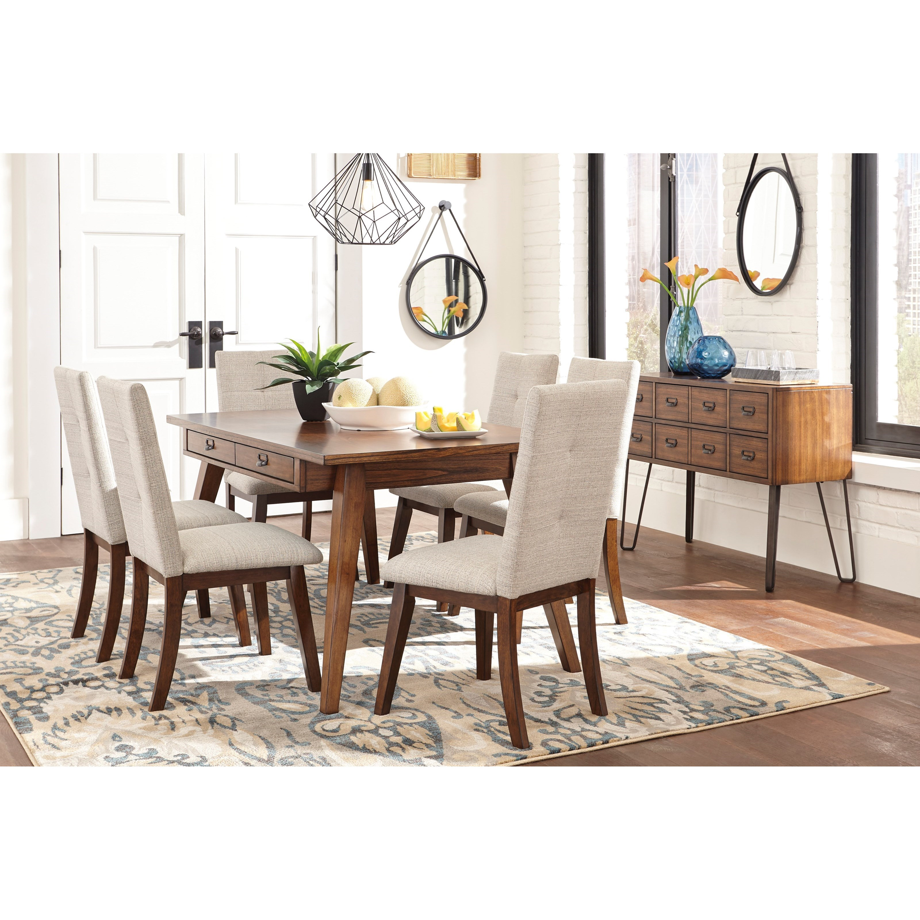 Ashley Dining Room Chairs Ashley Signature Design Centiar 7 Piece Rectangular Dining