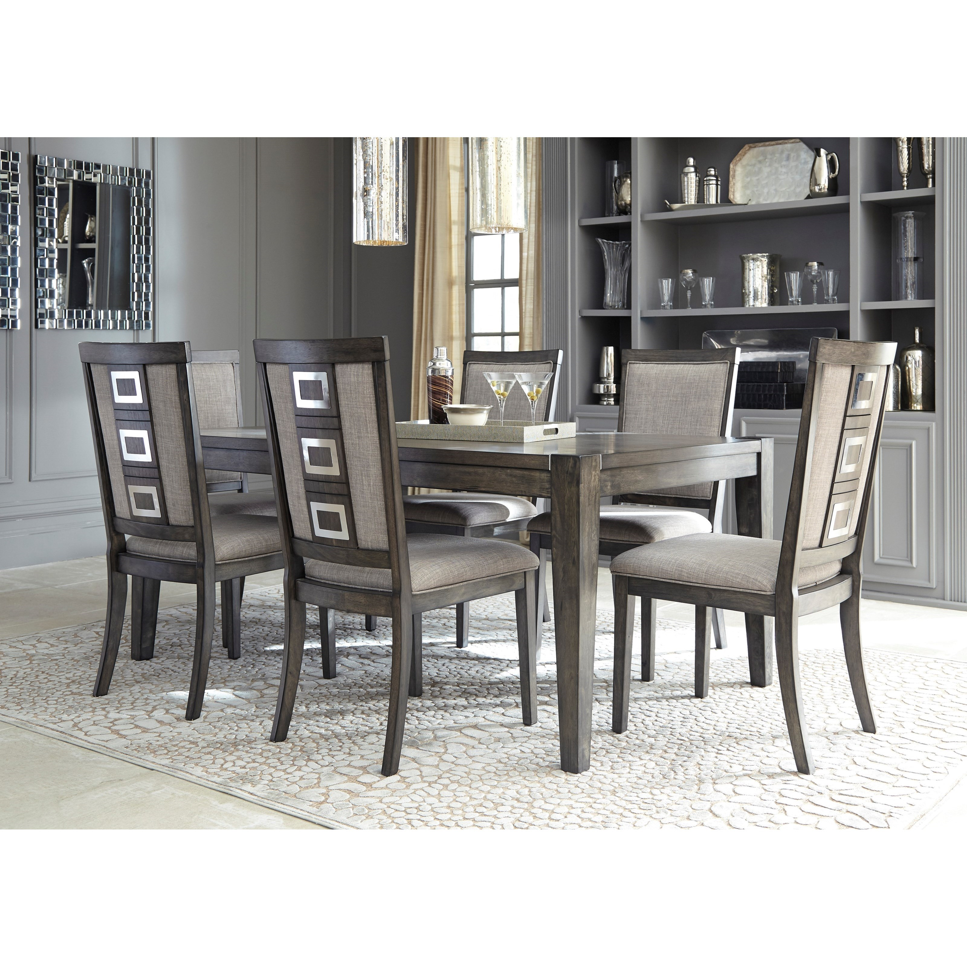 Ashley Dining Room Chairs Signature Design By Ashley Chadoni D624 01 Contemporary