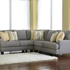 Ashley Furniture Modern Sofa Leather With Wooden Frame Signature Design By Chamberly Alloy 3