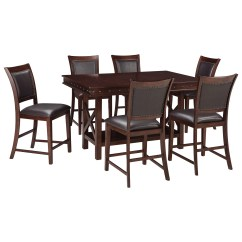 Pub Style Table And Chair Set Desk For Back Pain Signature Design By Ashley Collenburg 7 Piece Counter