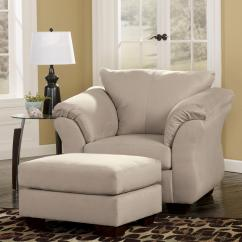 Ashley Chair And Ottoman Rocking Runner Signature Design Darcy Stone Contemporary