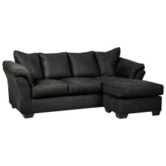 Ashley Cohes Sofa Chaise Cheap Small Sofas For Rooms Signature Design By Darcy Black 7500818