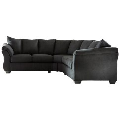 Black Sofa White Furniture Brown And Cream Set Signature Design By Ashley Darcy Contemporary