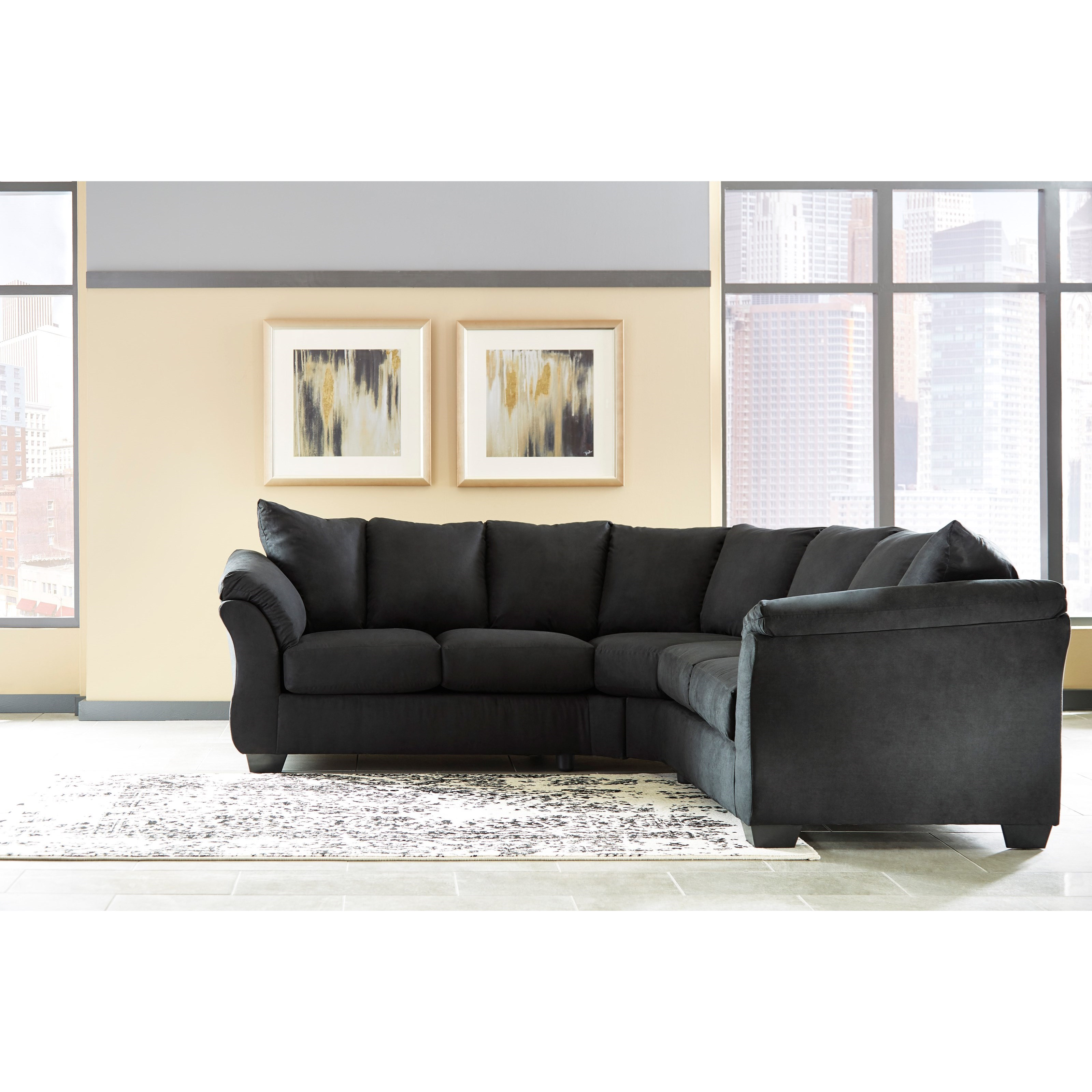 ashley darcy sofa designs for small living room signature design by black contemporary