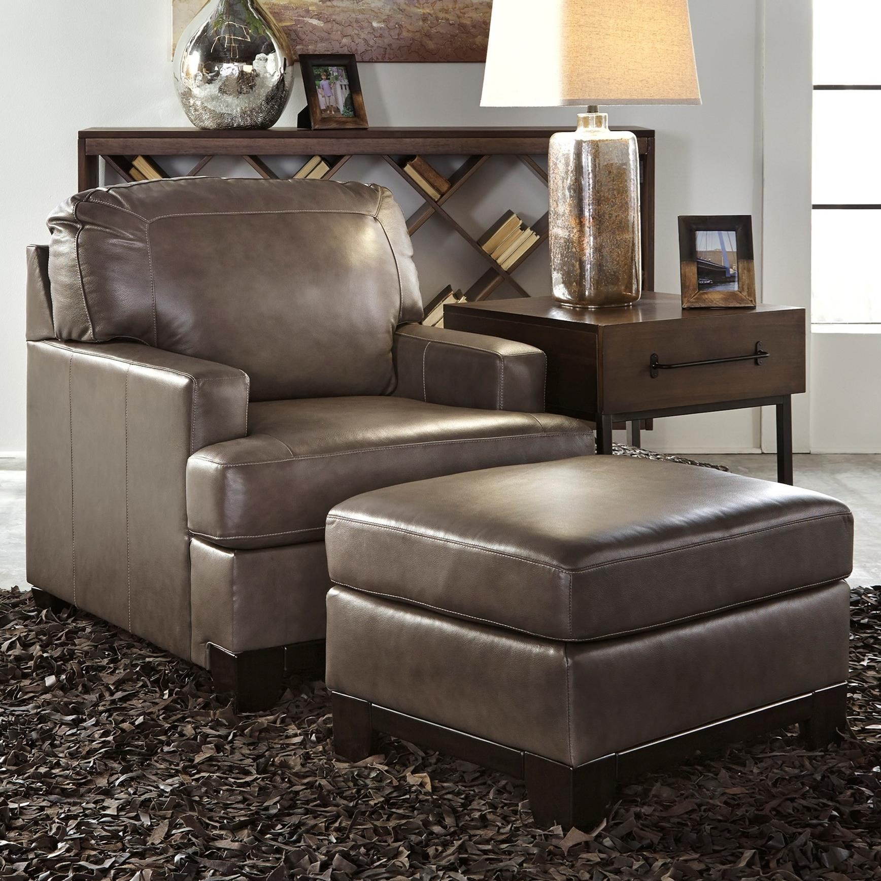 Ashley Furniture Leather Chair Ashley Signature Design Derwood Contemporary Leather Match