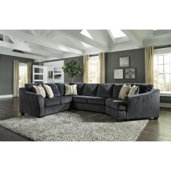 Cuddler Sectional Sofa Canada Fabric Cleaner Tesco Signature Design By Ashley Eltmann 3 Piece With